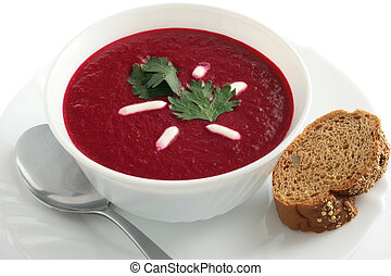 sopa, remolacha
