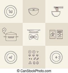 sopa, vector, icono