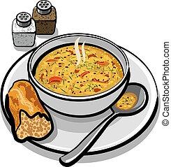 sopa, vegetal
