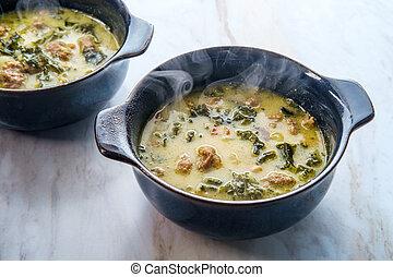 sopa, zuppa, toscana