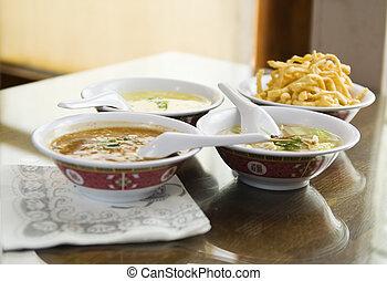 sopas, 2, chinês