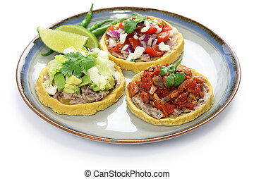 sopes, traditional mexican dish