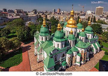 Sophia Cathedral arial - Arial view at Saint Sophia's...