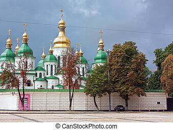 sophia, kiev, santo, catedral, ucrania