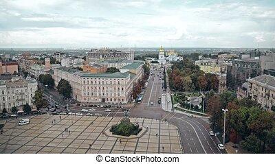 Sophia Square and St. Michael's Monastery, Kiev, Ukraine....