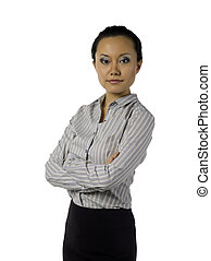 sophisticated asian female