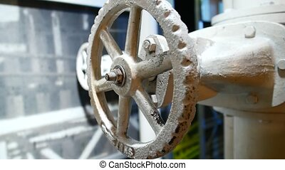 Sophisticated engineering mechanism Metal construction.