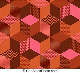 Sophisticated geometric shapes seamless pattern. Abstract...