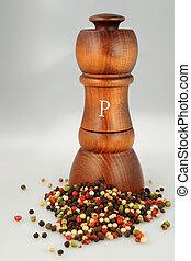 pepper shaker - Sophisticated wooden pepper shaker