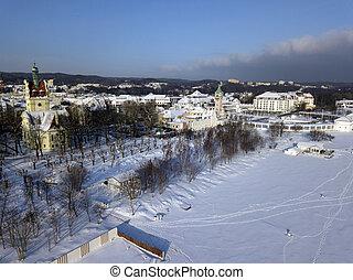 sopot, em, inverno, paisagem