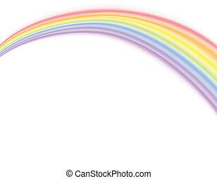 sopra, arcobaleno, -, vettore, bianco