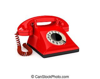 sopra, bianco, telefono
