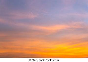 sopra, drammatico, tramonto, mare