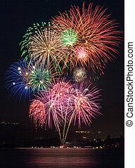 sopra, fireworks, lago