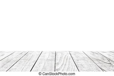 sopra, fondo, legno, isolato, tavola, bianco