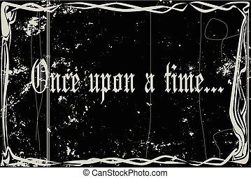 sopra, silenzioso, tempo, cornice, film, una volta
