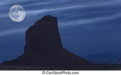 sopra, valle, luna, risng, monumento