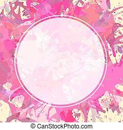 sopra, vernice, schizzi, cerchio bianco, artistico