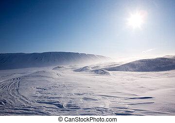 soprando, neve