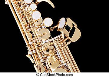 Soprano Saxophone Isolated on Black