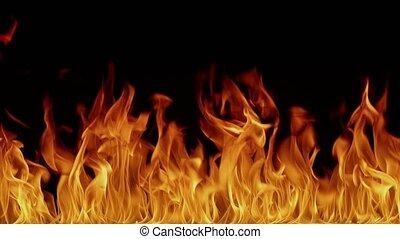 sorcellerie, brûler, brulure, arrière-plan., chaud, video-art., enfer, enfer