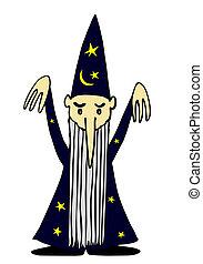 sorcerer - vector - Illustration of the magician - vector