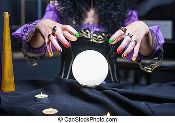 Sorceress with crystal ball