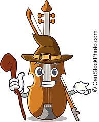 sorcière, dessin animé, salle musique, violon