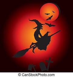 sorcière, hallooween