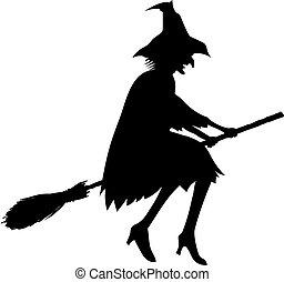 sorcière, silhouette