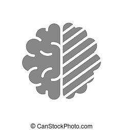 Sore human brain gray icon. Cerebral edema symbol. - Sore ...
