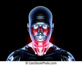Sore Throat - Anatomy - Medical Illustration. 3D rendered...