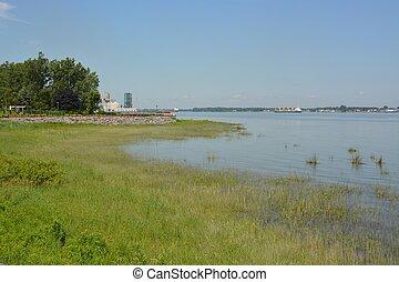 Sorel shoreline - shoreline along the Saint Lawrence river, ...