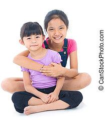 sorelle, asiatico