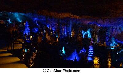Soreq Avshalom Stalactites Cave - Israel.It's is a 5,000 m2...