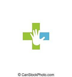 sorgfalt, medizin, logo