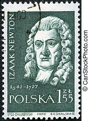 sorozat, bélyeg, lengyelország, newton, -, nyomtatott, (1642-1727), 1959:, isaac, cirka, 1959, látszik