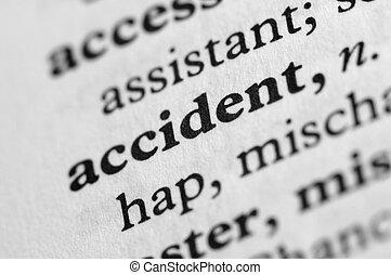 sorozat, baleset, -, szótár
