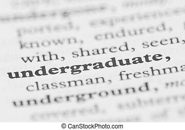 sorozat, -, egyetemi hallgató, szótár