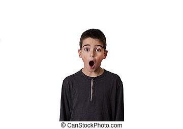 sorpresa, espressione, bambino