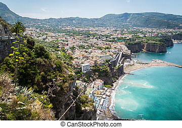 Sorrento, Italy - July 15: View of the town of Sorrento.View...