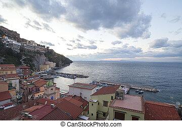 Sorrento, Italy. - Sorrento coast in evening.