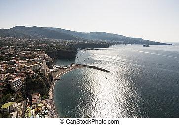 Sorrento peninsula - panoramic view of the sorrento coast,...