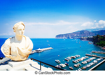 Sorrento, southern Italy - embankment and beach of Sorrento...