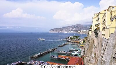 Sorrento, southern Italy - view of port of Sorrento of...