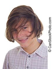 sorridente, adolescente