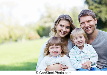sorridente, famiglia