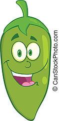 sorridente, pepe chili verde