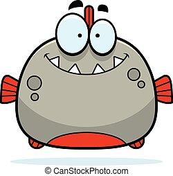 sorridente, poco, piranha