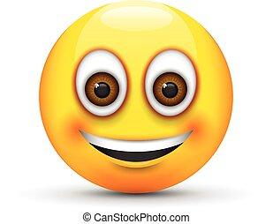sorrindo, emoji
